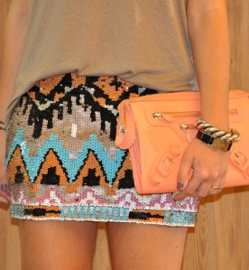 Sequin Patterned Skirt