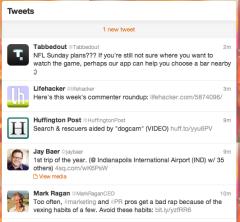 Twitter Newsfeed Example