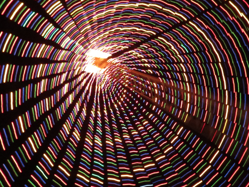 What it looks like when you're spinning under the tree.