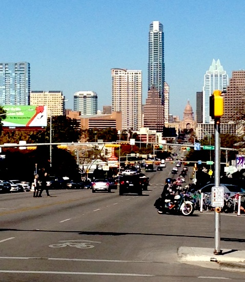 South Congress Downtown Austin Skyline