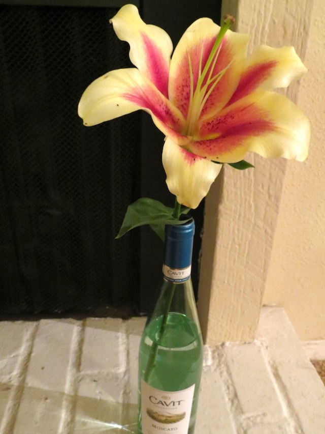 floral arrangement in vases
