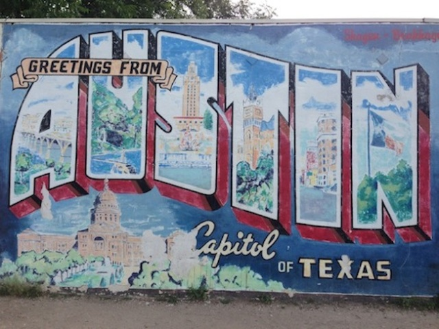 Welcome to Austin wall art